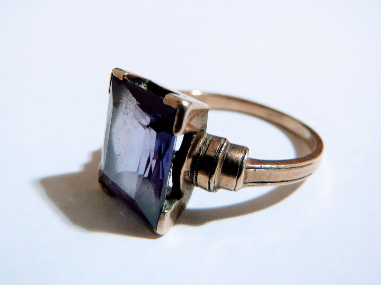 10K Gold and Amethyst Ring