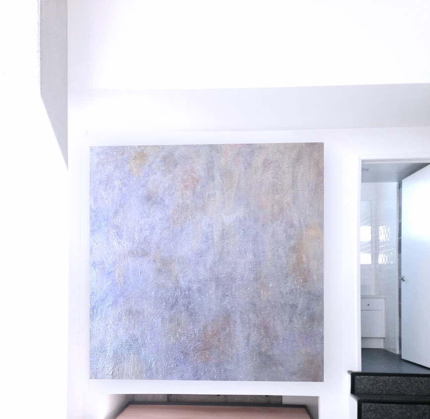 Victor Angelo Artist Light Reflection Paintings Series 2013 Abstraction Ted Smith Architect Kathleen McCormick Interior Design New Modern Loft Hillcrest Metro San Diego California