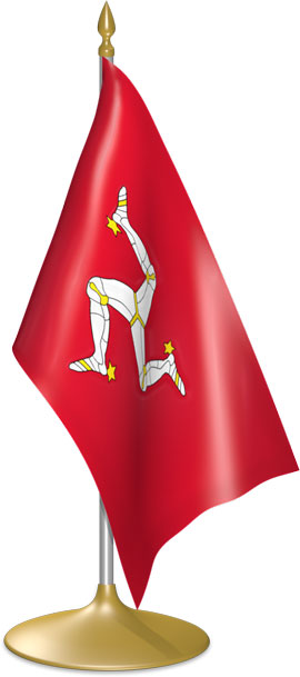 Manx table flags - desk flags