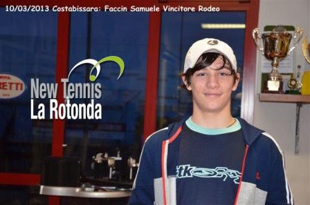 Samuele Faccin del New Tennis la Rotonda vince il torneo Rodeo