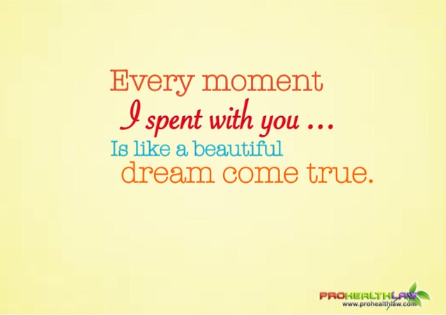 moment with you is a dream