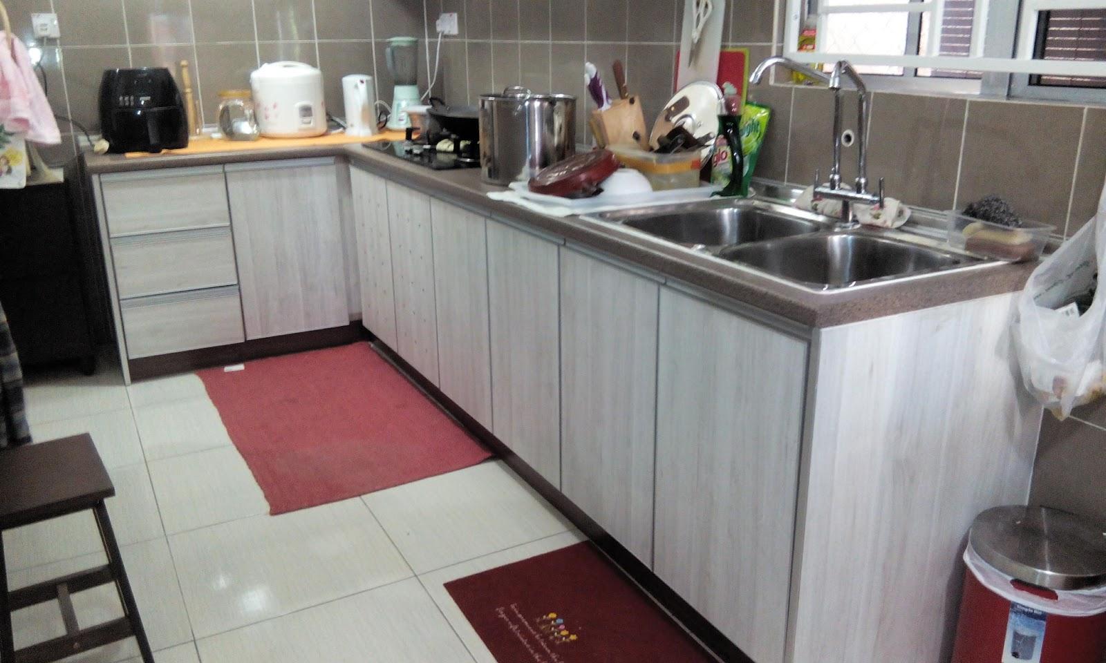 Material Yang Di Gunakan Utk Rumah Tuan Haji Ni Adalah Spt Milamine Board Beserta Kekemasan Edging Aluminium Handle Profail Wow Simple Dan Cantik Gitu