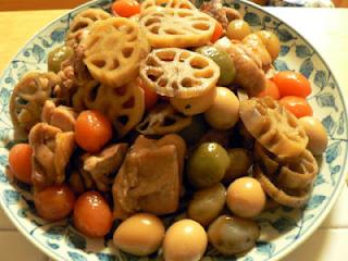 鶏肉と蓮の煮物