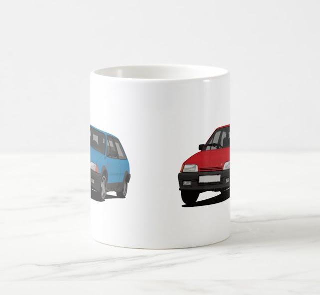 Citroën AX GT editable two image mug