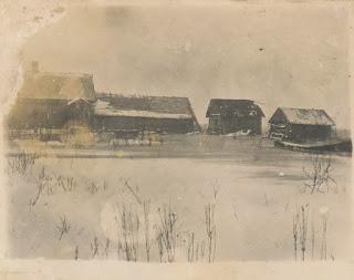 Большая вода в Степановщине, дом Беловых(из личного архива К.И. Веселовой)