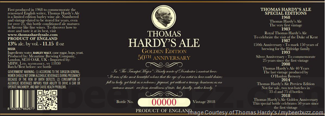 Thomas Hardy's Ale - Golden Edition 50th Anniversary