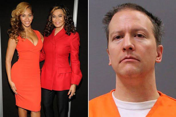 'Disappointing' - Beyonce's mum Tina slams 22.5 years sentencing of George Floyd killer Derek Chauvin
