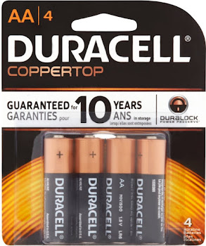 Duracell Alkaline Battery - Aa, 1.5V, 4 Alkaline Batteries