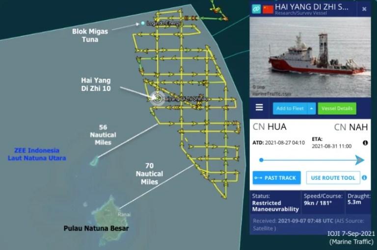 Pantas Saja RI Gak Berani, Kapal Canggih China Pengincar Cadangan Minyak Gas Indonesia Ternyata Dikawal 10 Kapal China Coast Guard