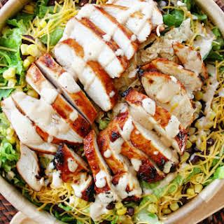 BBQ Chicken Salad with Creamy BBQ Dressing.