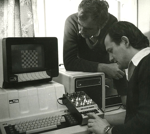 People working on a computer