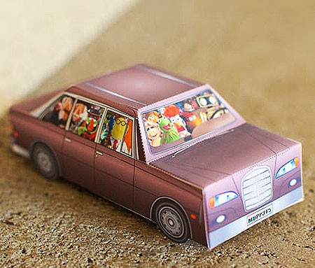 The Muppets Papercraft Car