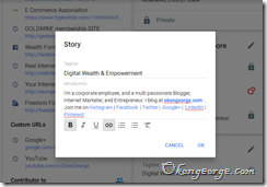 how to edit google  profile2