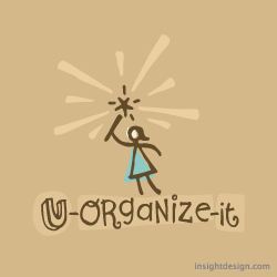 U-Organize-it Logo Design Dallas