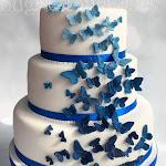 Royal blue butterfly wedding cake 3.jpg