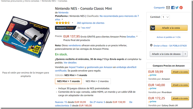 Nes Mini Amazon