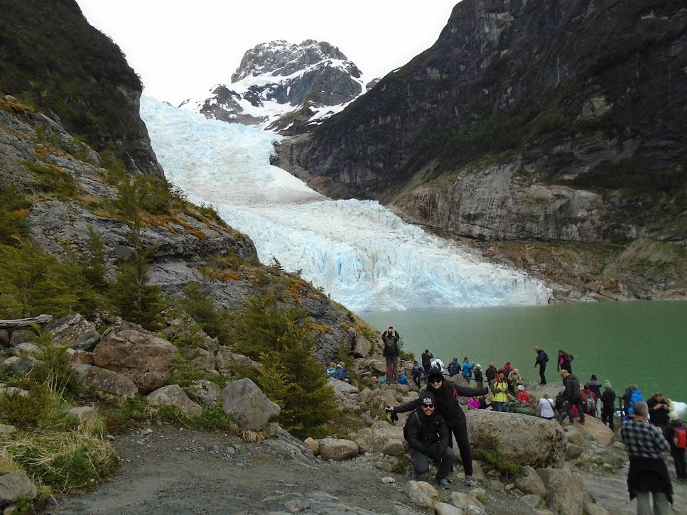 Vista de um glaciar