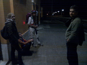 Photo: In the middle of the night, while wondering around fields of Cisternino, we met this morris dancer (an ancient British dance), who is dancing all the way through, from Athens to London (hoping to arrive right before Olympics)! I kid you not.