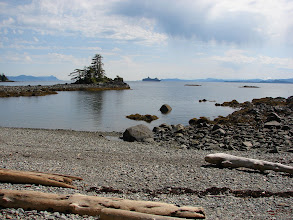 Photo: A cruise ship heads north up Clarence Strait past my campsite near Niblack Point.