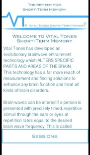 Vital Tones Short-Term Memory- screenshot thumbnail