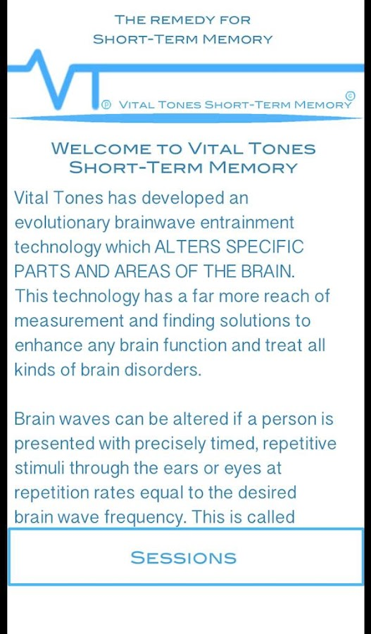 Vital Tones Short-Term Memory- screenshot