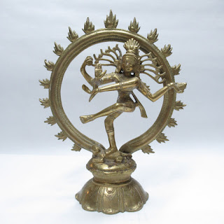 Dancing Shiva Brass Sculpture