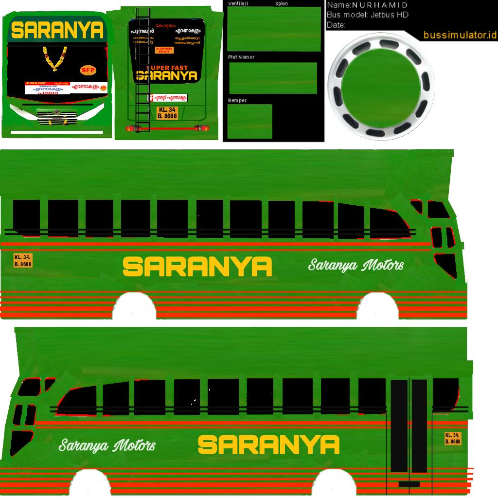 Bussid kerala: Saranya livery