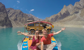 Boating on Attabad lake