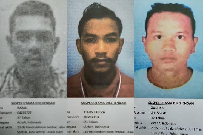Lagi Pria Aceh di Buru Police Malaysia Tersandung Kasus Narkoba Senilai RM22,46 Juta