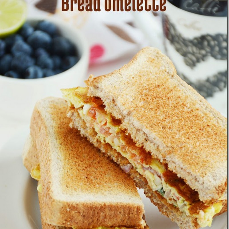 Bread egg omelette