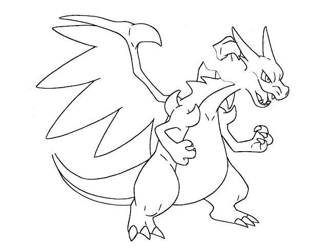 Charizard Coloring Pages With Pokemon Coloring Pages Mega Charizard