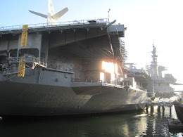 USS Midway at the San Diego Harbor.