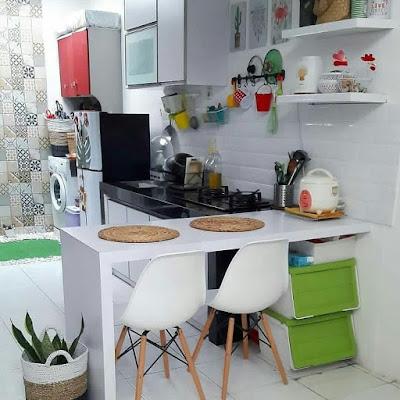 meja dapur aluminium minimalis