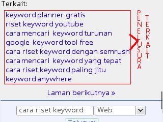 Cara Riset Keyword di Google Searches Related Atau Penelusuran Terkait