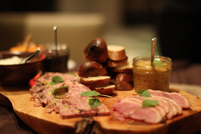 Charcuterie and cheese board. From Sweetfire Kitchen, La Cantera Hotel Resort. Texas Hill Country Resort Chef Cooks Up Thanksgiving Menu