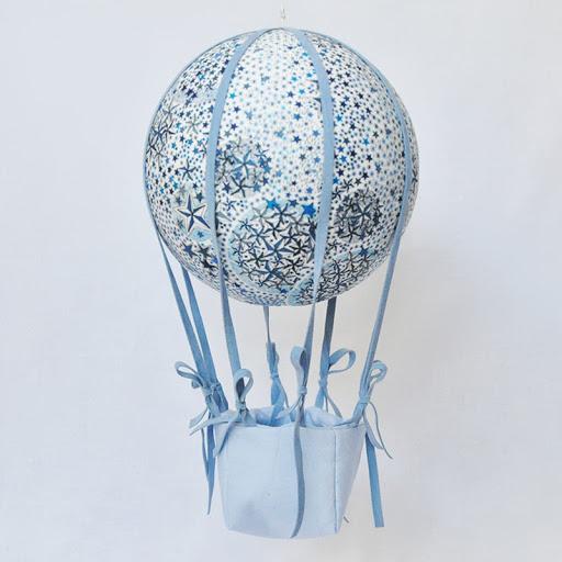 montgolfiere adelajda bleu nacelle bleu ciel