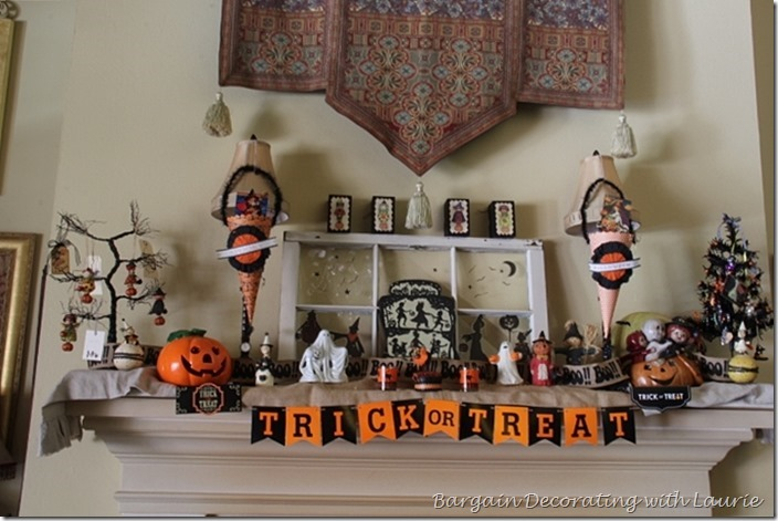 Trick or Treaters on the Mantel