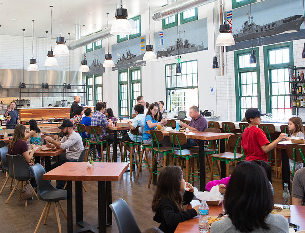 photo of the dining area inside Liberty Public Market