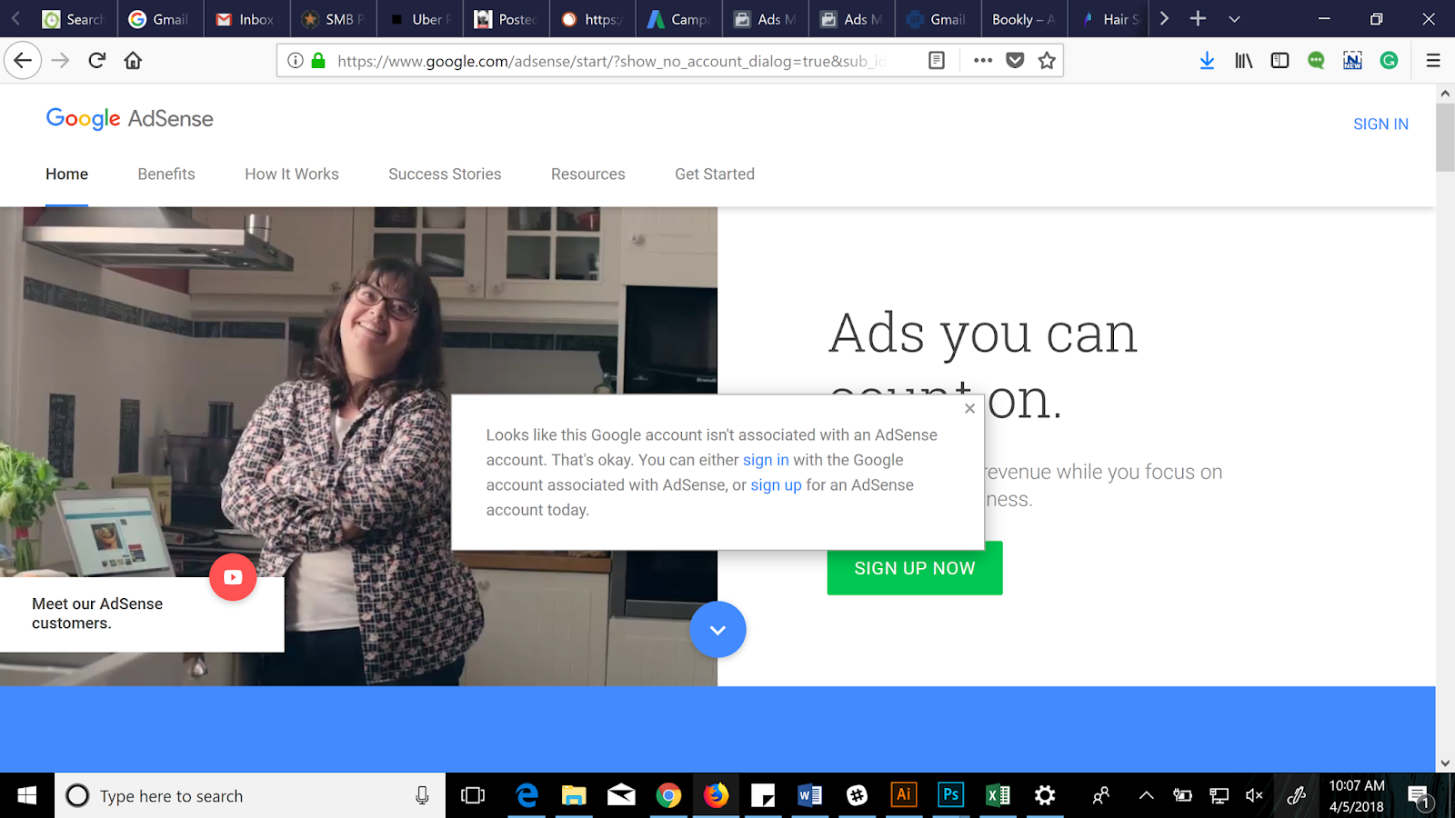 I Received A Email Saying I Had A Matching Similar Adsense