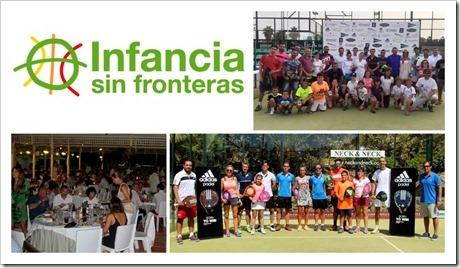 Finaliza el II Torneo Benéfico de Pádel a favor de Infancia sin Fronteras: pádel y solidaridad un tándem imbatible.