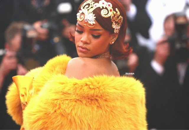 Rihanna attends the Met Gala in Guo Pei
