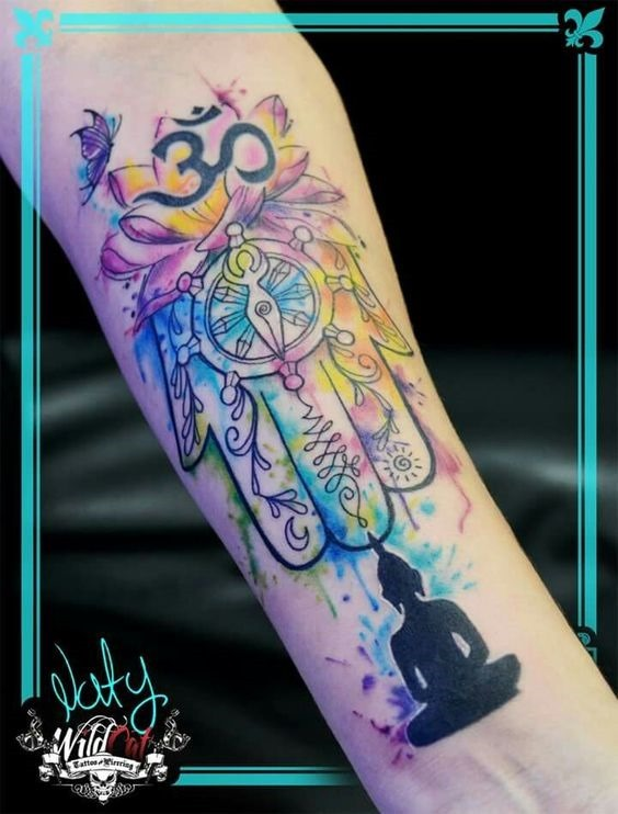 lotus_no_hamsa_antebraço_tatuagem