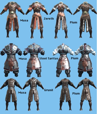 Ingame armor sets for musa and maehwa | The Samurai Project