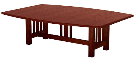 "96"" x 42"" Plains Mission Conference Table in Cranberry Oak"