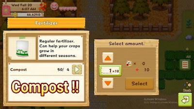 Entah kenapa cukup banyak yang bertanya Cara Mendapatkan Compost di Harvest Moon Cara Tercepat Mendapatkan Compost untuk Membuat Fertilizer/Blend di Harvest Moon: Light of Hope