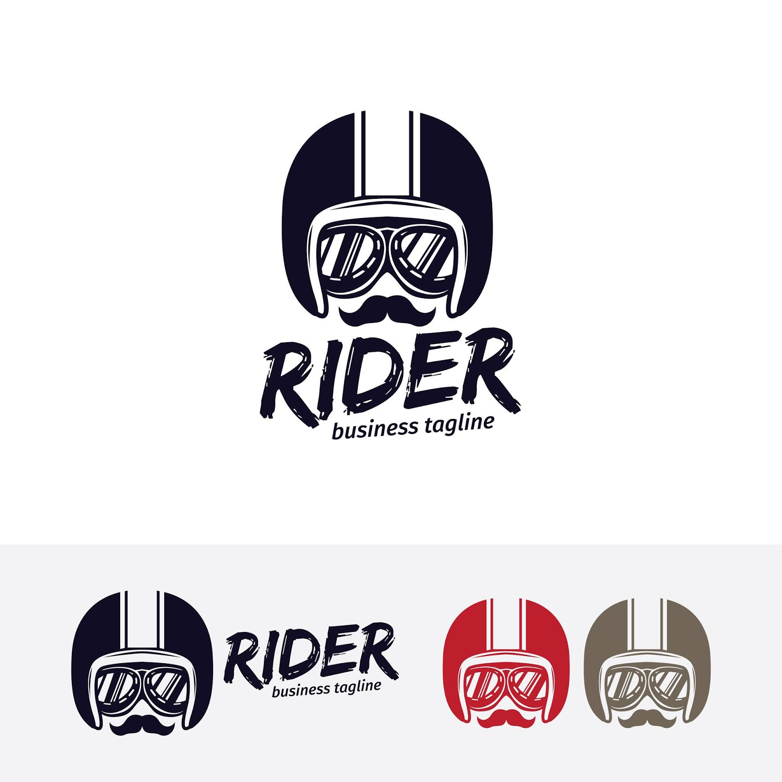 Rider Vector Logo Template	 Free Download Vector CDR, AI, EPS and PNG Formats