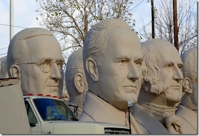 Houston Presidents' heads