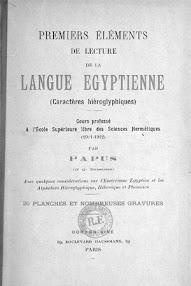 Cover of Papus's Book De Lecture de la Langue Egyptienne (1911,in French)