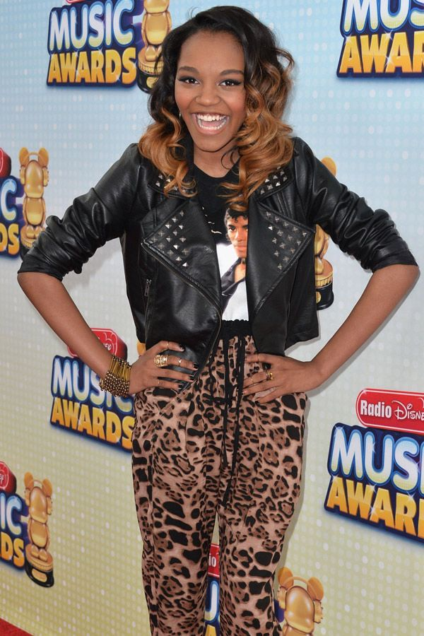 Actress China Anne McClain arrives at the Radio Disney Music Awards at Nokia Theatre, Los Angeles, California on April 27, 2013.