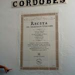 free tour po starym mieście w Kordobie i wypisany na ścianie przepis na lokalna wersje gazopacho
